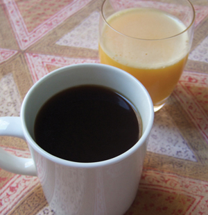 Coffee and Orange Juice