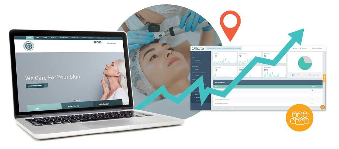dermatology website example