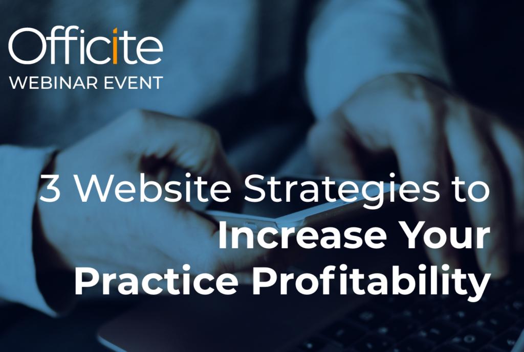 3 Website Strategies Webinar Image